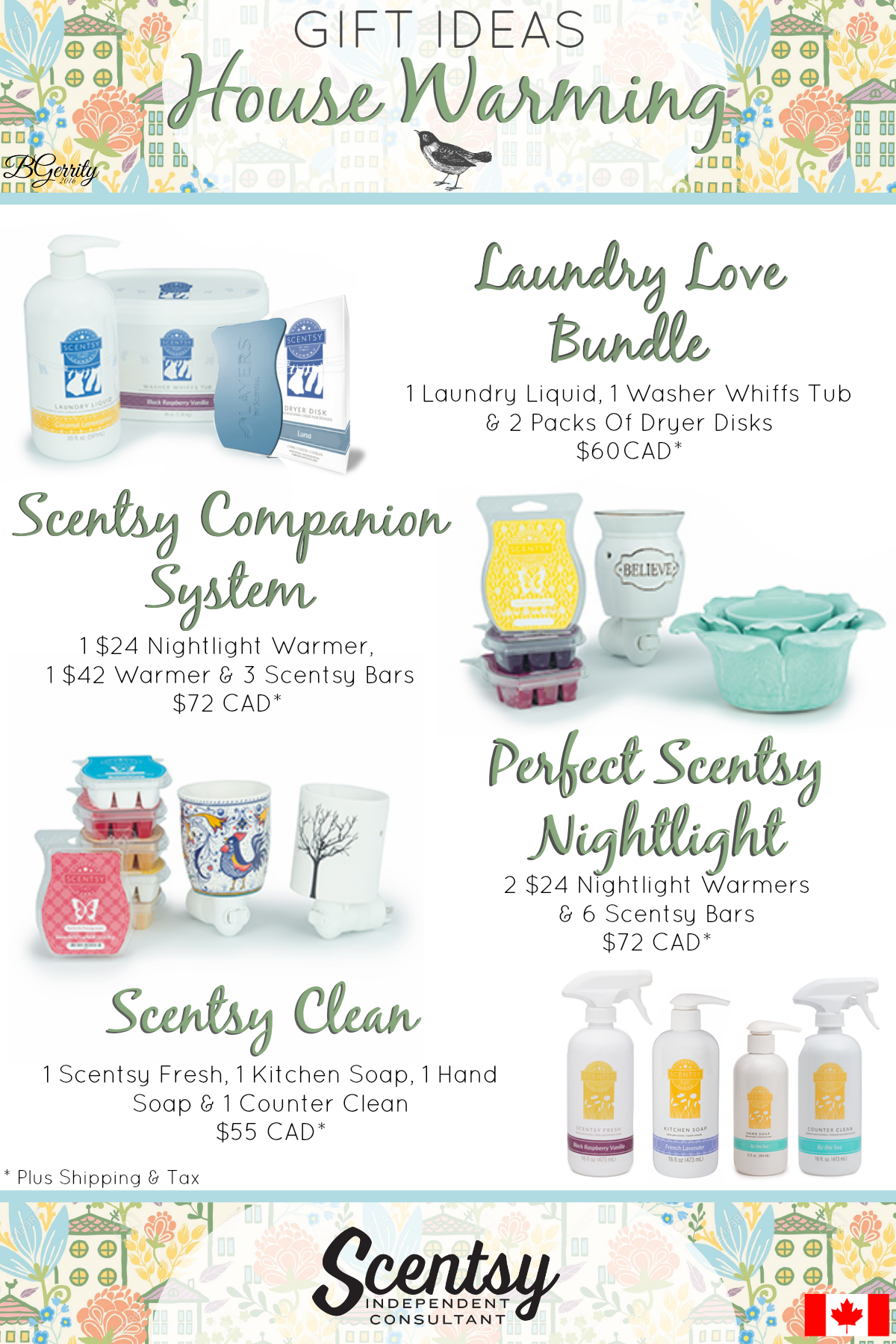 Scentsy Hose Warming Gift Ideas Canadian Flyer Created By Brittany Gerrity Www Brittanygerrity Scentsy C Scentsy Scentsy Consultant Ideas Scentsy Fragrance