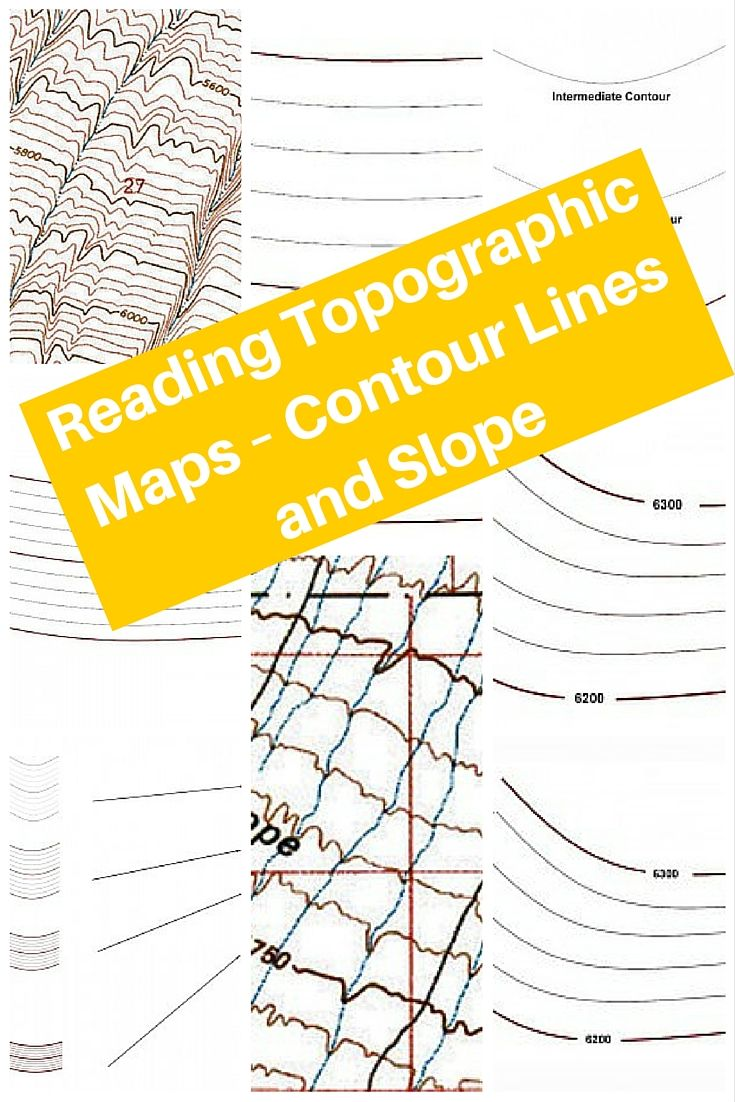 Contour Lines On A Topographic Map Connect.Reading Topographic Maps Contour Lines And Slope Navigation
