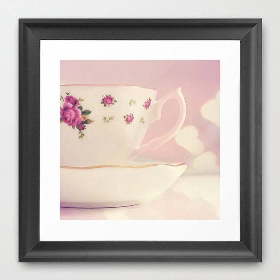 Kitchen Print, Kitchen decor, Pastel Home Decor, Shabby Chic, Still life