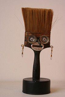 paint brush sculpture