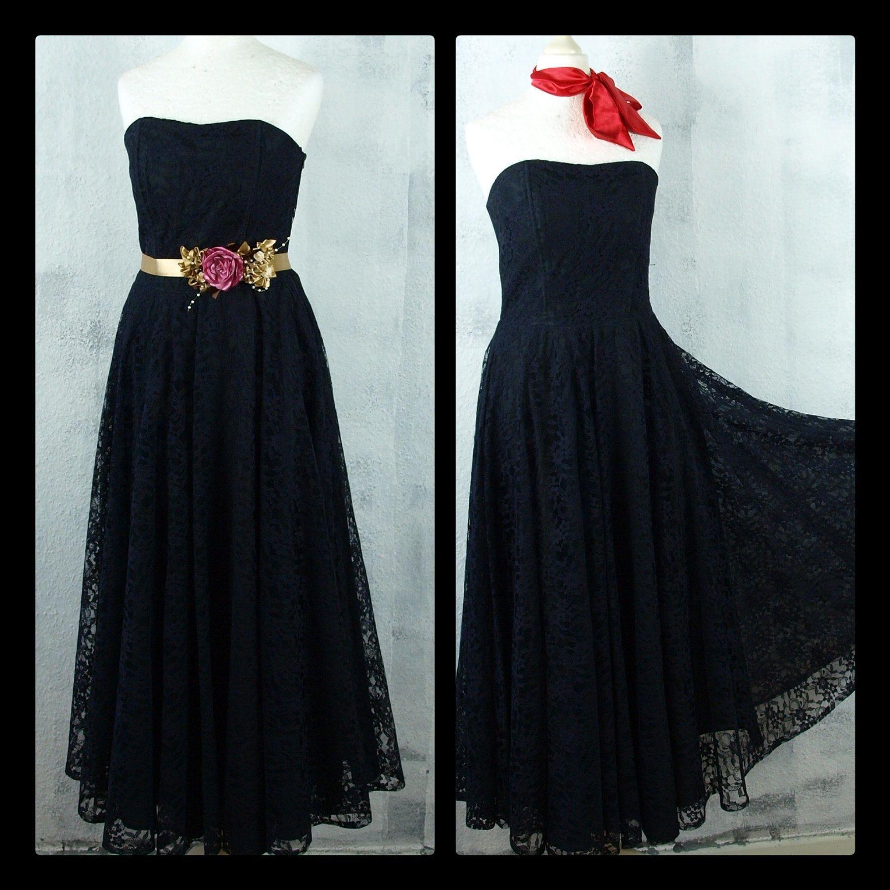 S Kleid Spitze Abendkleid Corsage Victorian Vampire Pinup Vintage