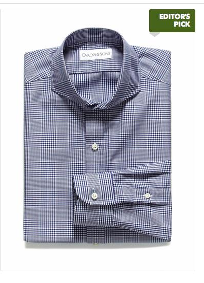 e59155f491 Cutaway collar glen check shirt available exclusively @parkandbond Kockás  Ing, Ing, Fiúk
