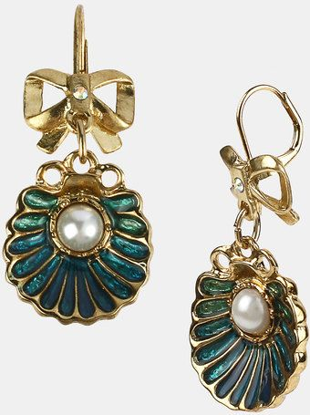 Sea Excursion Oyster Drop Earrings