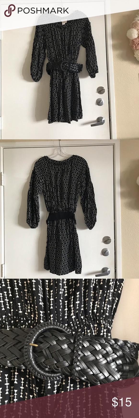 Max Studio Mssp Black Dress With Belt Dresses Clothes Design Max Studio Dress [ 1740 x 580 Pixel ]
