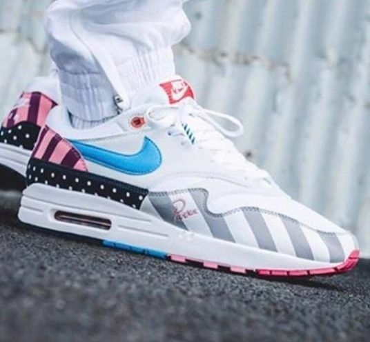cheap for discount 4ea16 01147 Nike Air Max 1 x Parra 5 6 7 8 9 10 11 12 pure platinum am1 patta ready to  ship Nike RunningShoes