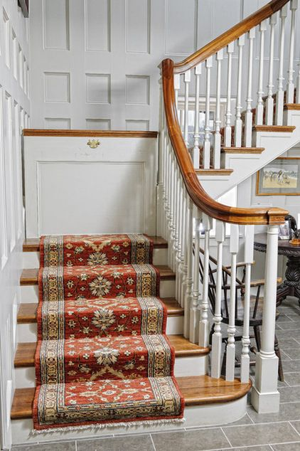 Best Incredible Farmhouse Staircase With Baby Gate Rising Up 400 x 300
