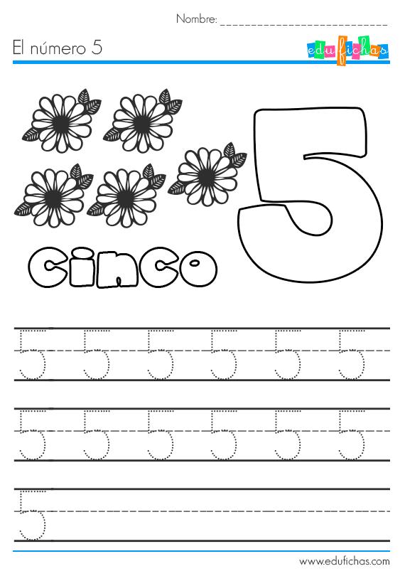 El Numero 5 Ficha Educativa Con Actividades Para Aprender Los Numeros Actividades Para Preescolar Numeros Para Ninos Actividades