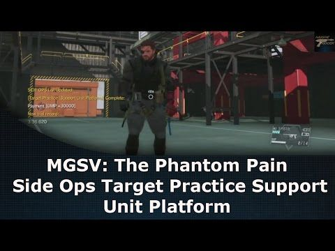 mgsv the phantom pain side ops target practice support unit