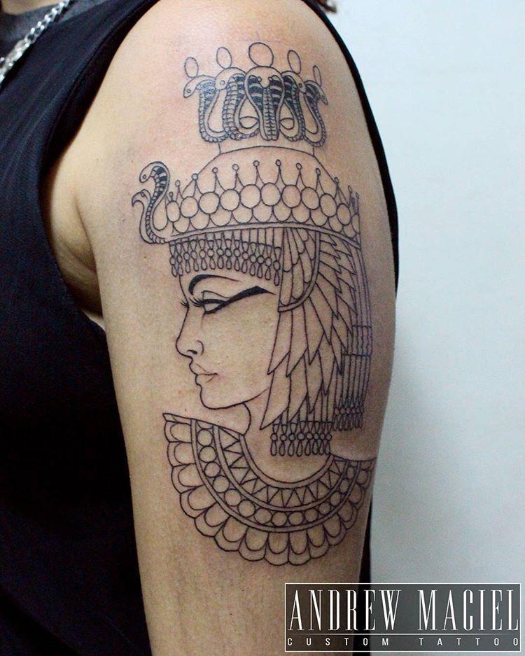 Primeira Sessao Da Tattoo Da Cleopatra Feita Na Giurodriguesmake Cleopatra Cleopatratattoo Tatuagem Neotr Egyptian Tattoo Egyptian Queen Tattoos Ma Tattoo
