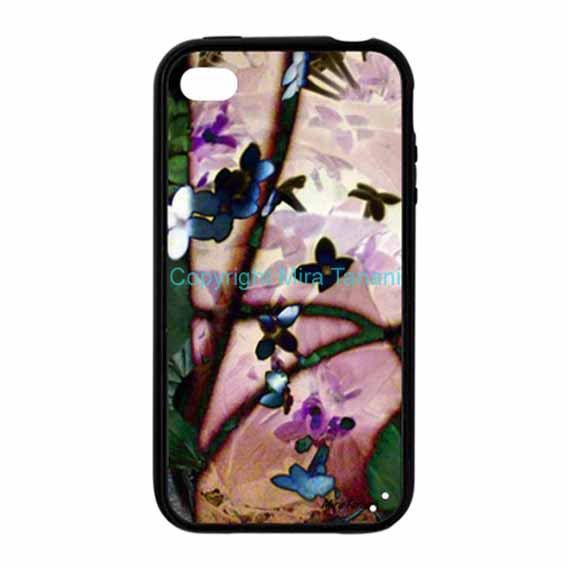 "iPhone case with image from my photo gallery, ""Floral Cascade"""