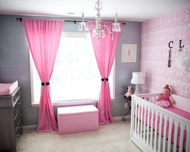 Chambre bébé fille en gris et rose - 27 belles idées à partager | Belle