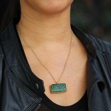 Carved Emerald Gold Necklace Image