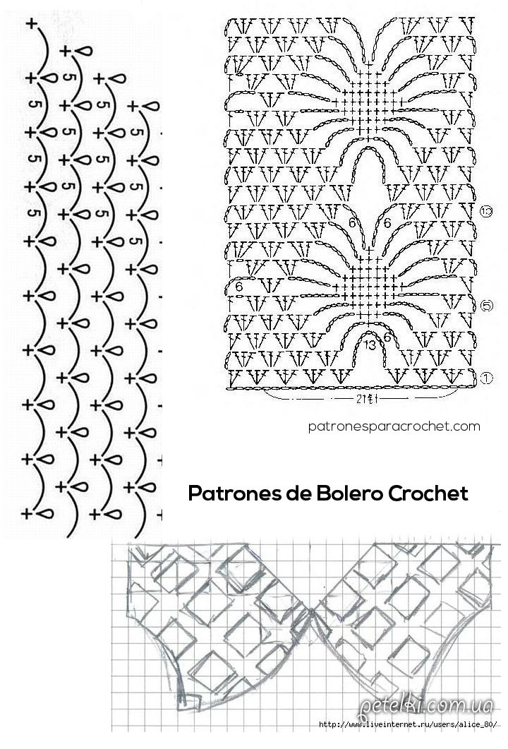 patron-de-bolero-crochet.jpg (720×1061) | alicia | Pinterest ...