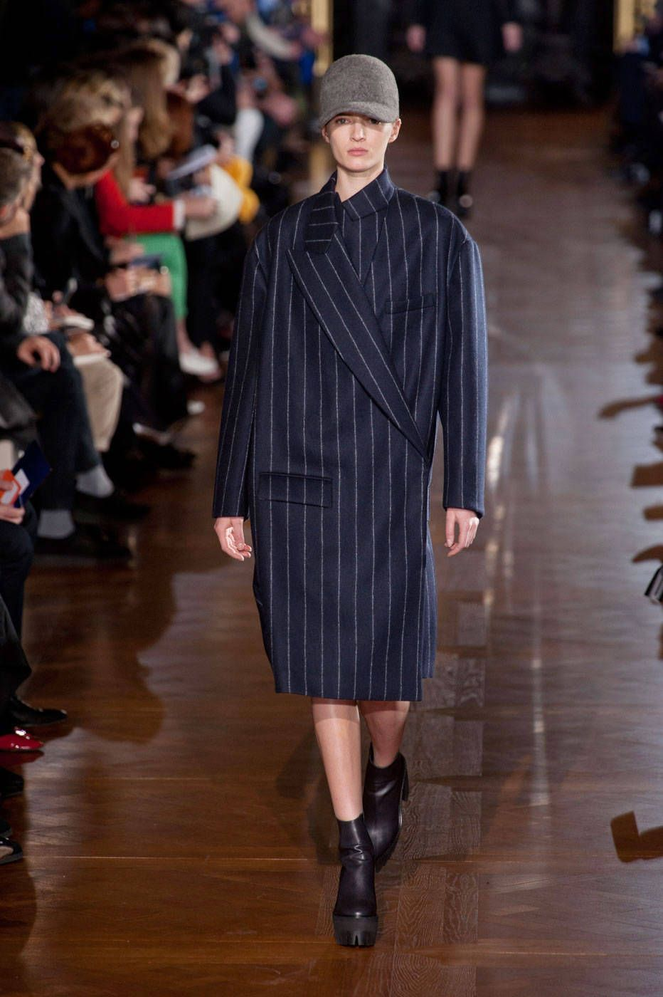 Get that boxy look of your professional pops' overcoat—revamped for you. Pictured: Stella McCartney   - HarpersBAZAAR.com