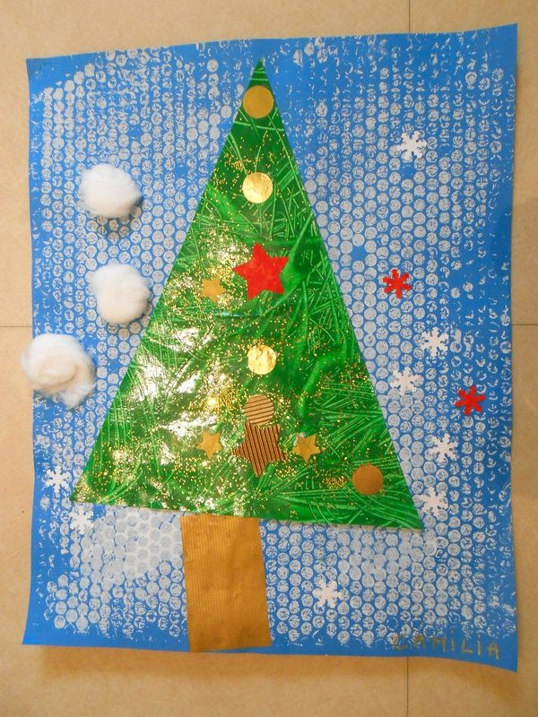 Connu Sapin de Noël - collage et peinture en petite section | Noël et  UG45