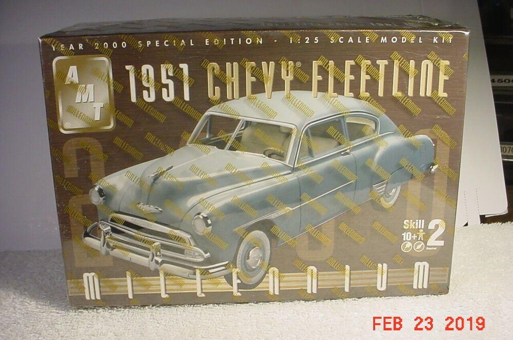 Details About Amt 1 25 1951 Chevy Fleetline 100 Years Of Chevrolet Plastic Model Kit 702 06 Model Kit Barbuda Ebay