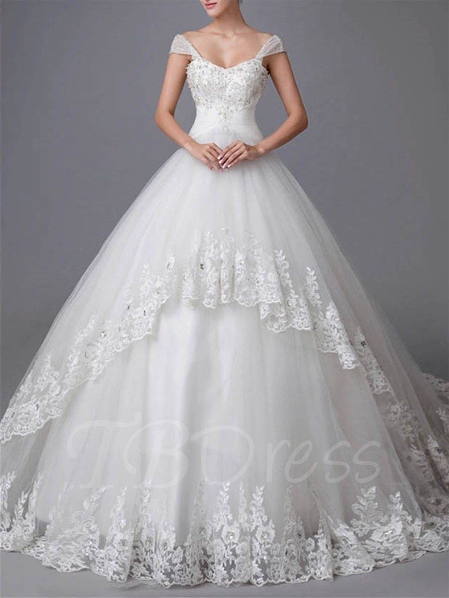 Wedding dress with straps  Ball Gown Straps Beading Appliques Wedding Dress  Braylee dresses