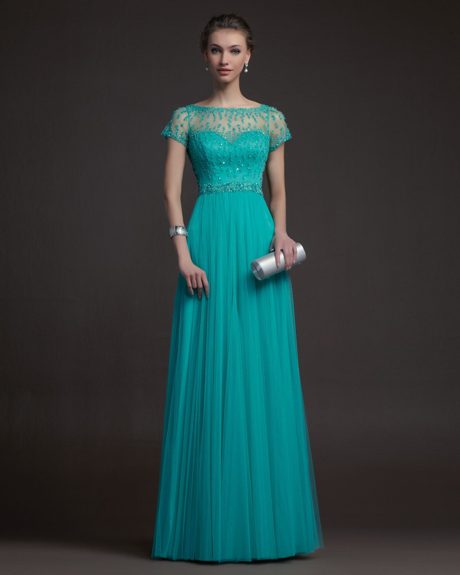 Cheap Charming Sheath/Column Bateau Beading&Sequins Ruching Floor ...