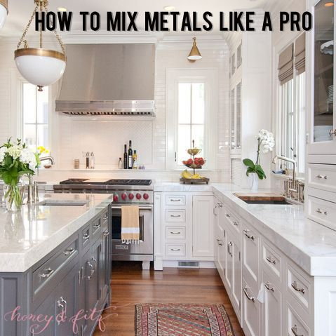 How to mix metals like a pro | Honey & Fitz | Kitchen | Pinterest ...
