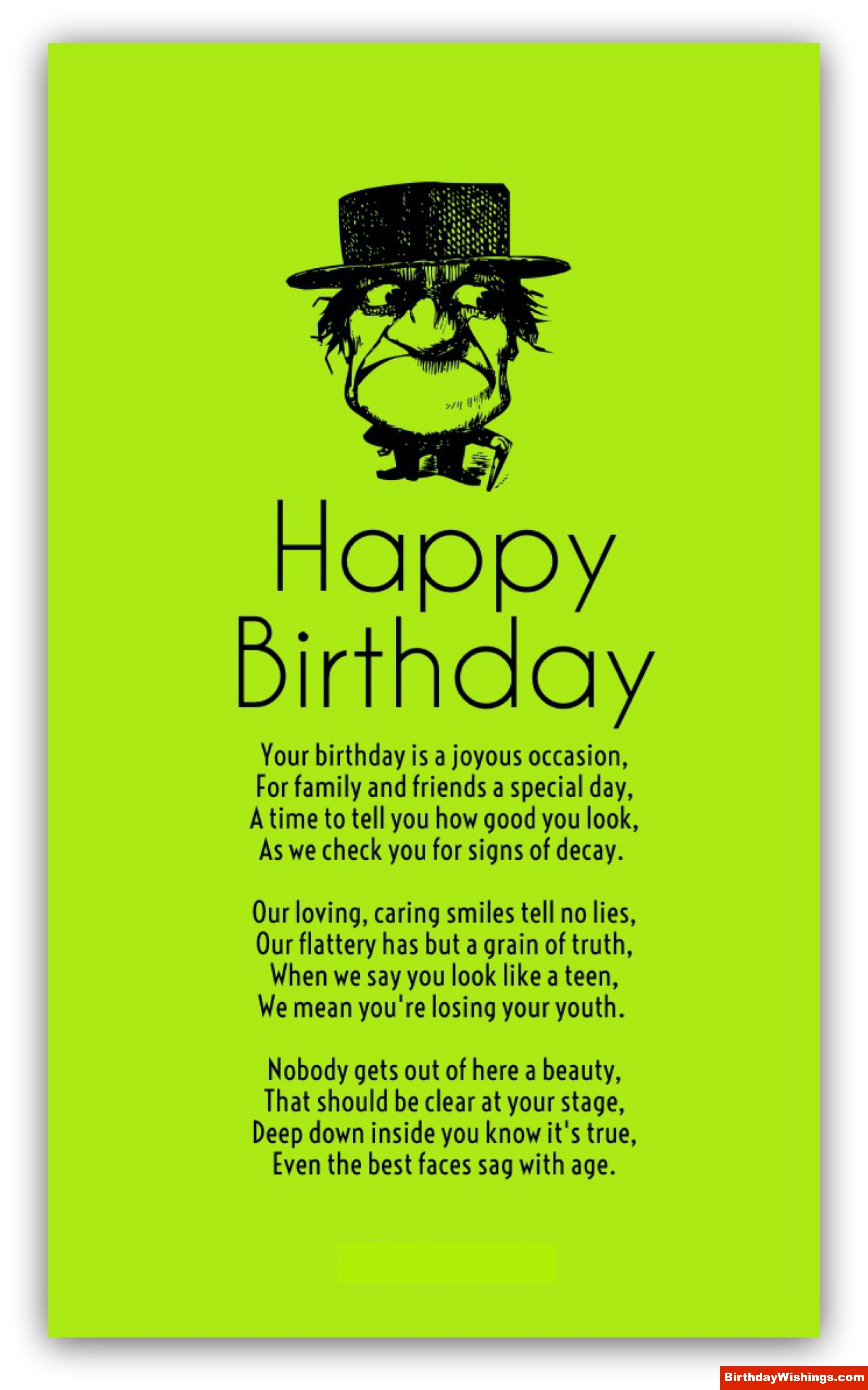 Find Out These Beautiful Old Age Birthday Poems For Your Loved Ones Your Birthday Is Joyous Occasion For Fami Funny Birthday Poems Birthday Poems Funny Poems