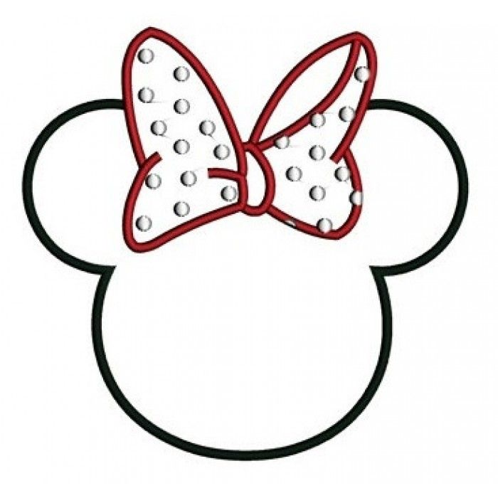 Looks Like Minnie Mouse Ears Applique Machine Embroidery Digitized
