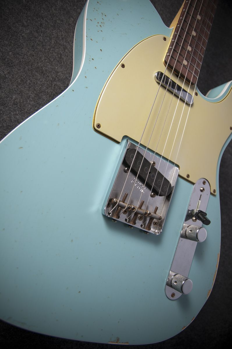 Fender Custom Shop 1960 Relic Telecaster Electric Guitar in Daphne Blue