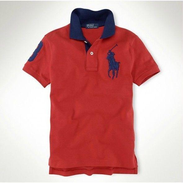 Polo Ralph Lauren Men's Red Navy Big Pony