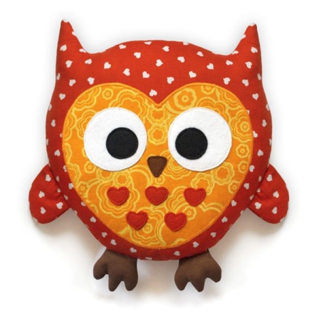 The Owl Plush Animal Sewing Kit is a soft toy pattern & fabric kit from DIY Fluffies.  The recommended skill level for this kit is Easy.  Kit includes cotton fabrics in 3 colors, felt in 4 colors, pattern, and detailed instructions.  Your finished plush owl will be approx. 12 in x 12 in.  Use the pattern again to create additional soft toys for family & friends.  A creative handmade gift giving idea!