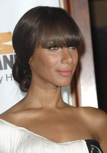 Leona Lewis dramatic, updo hairstyle