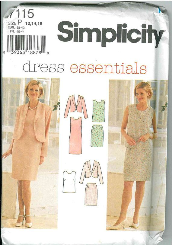 Simplicity 7115 Misses\' Misses-Petite Jacket, Dress, Top and Skirt