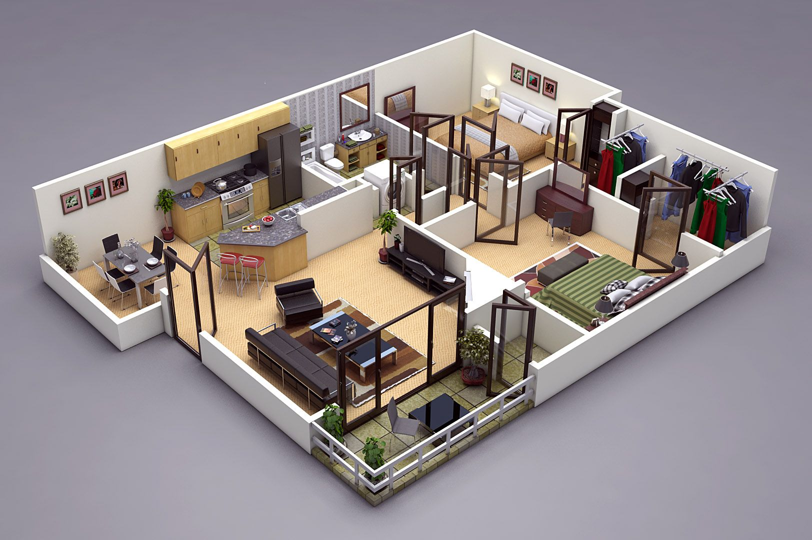 Photo Realistic 3D Floor Plan In 3ds Max / Vray. Http://