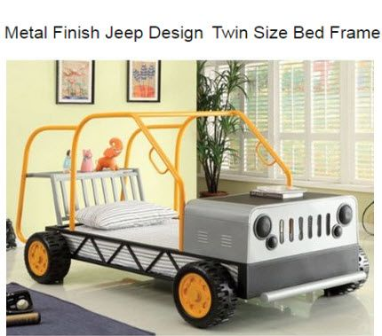 Jeep Twin Bed Frame For The Kids This Is A Conversation Piece