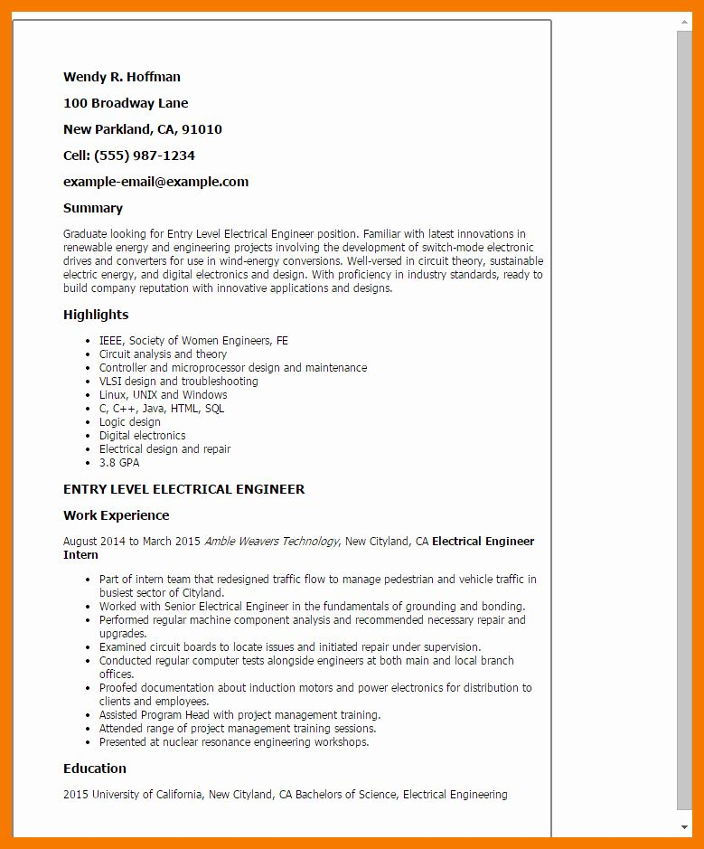 Entry level software engineer resume unique 12 13 mid
