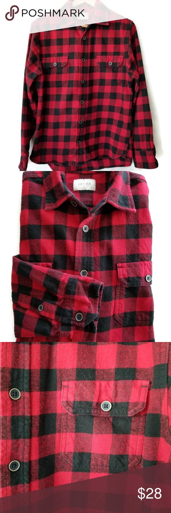 Flannel shirt black  Jachs red black buffalo plaid flannel shirt  My Posh Closet