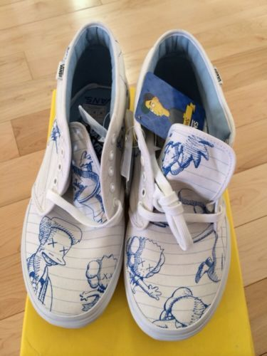 Vans Chukka Simpsons Movie X Kaws Men S 11 Supreme Brand New Never Worn Ebay 750 00 Vans The Simpsons Movie Supreme Brand