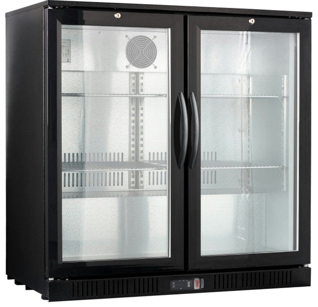 Procool Double Glass Door Back Bar Cooler Beverage Cooler Back Bar Double Glass Doors
