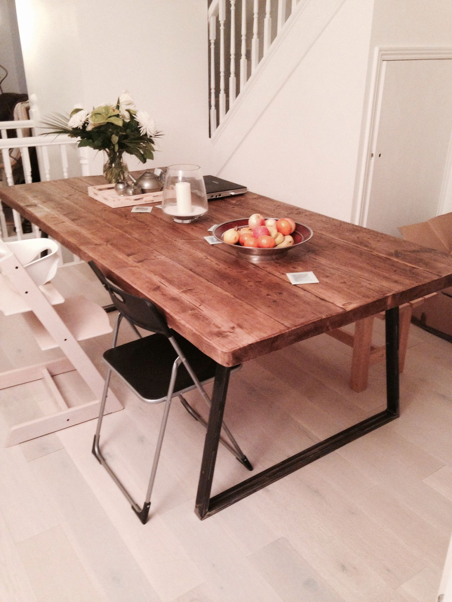 Our beautiful industrial style dining table from Heyl Interiors