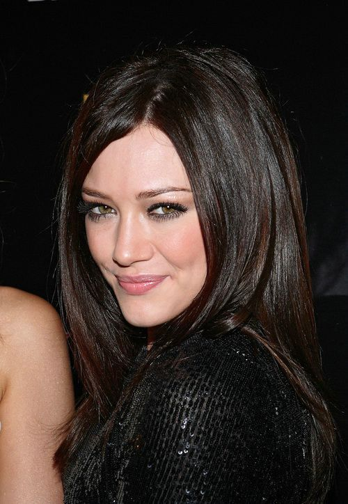 Dark Chocolate Hair Colors Red Highlights Celebrity Hair Colors