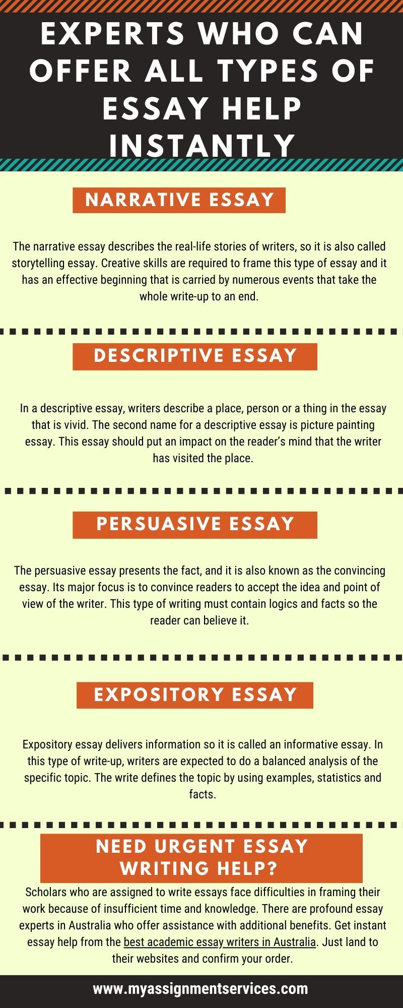 Different Type Of Essay On Which You Can Take Help From Expert Writing Website To Essays That Will Write For Free