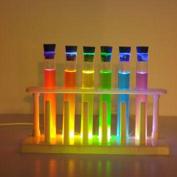 Light-up Chemistry Test Tube Set Decoration. LED operated ...