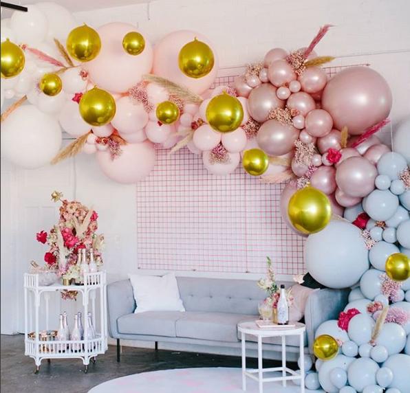 Como Decorar Con Globos Ideas Para Decorar Una Fiesta Moderna Decoracion De Globos Para Ninos Decoracion 100 Day Celebration Bridal Shower Balloon Garland