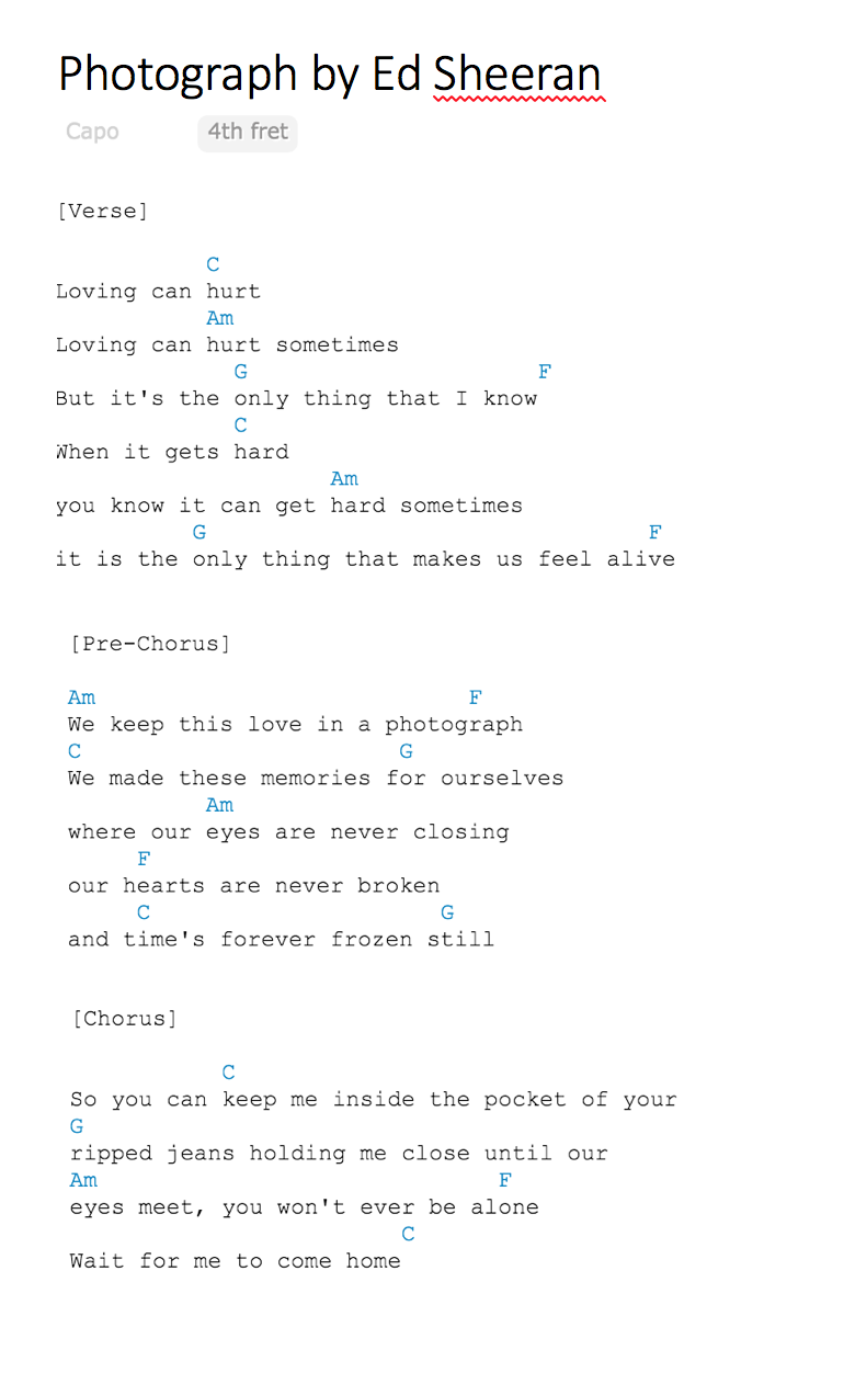 perfect lyrics with ukulele chords » 4K Pictures | 4K Pictures [Full ...