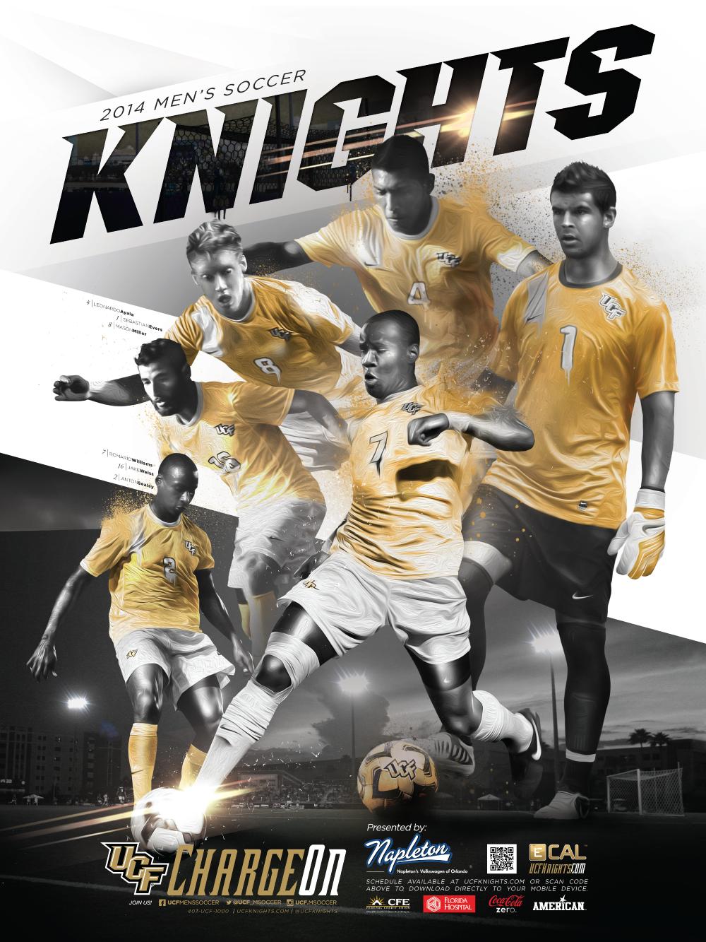 2014 Ucf Men S Soccer Ucf Knights Sport Inspiration Football Design