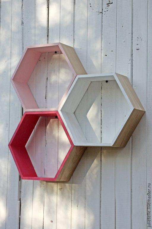 Купить Storage №10 - разноцветный, полка, декор стен, геометрический орнамент, дизайн интерьера