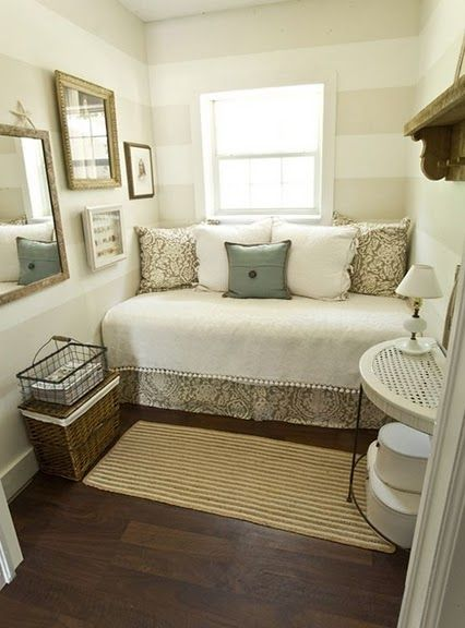 If I ever get a full size office room, I could turn my area into a small guest room/sitting area!