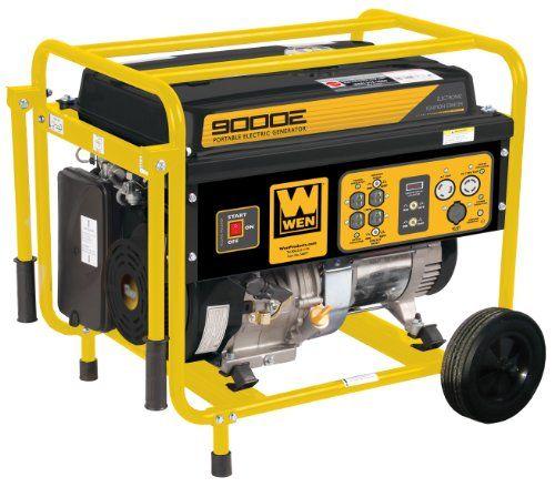 Wen 56877 9000 Watt Portable Generator With Electric Start And Wheel Kit Portable Generator Generation Portable