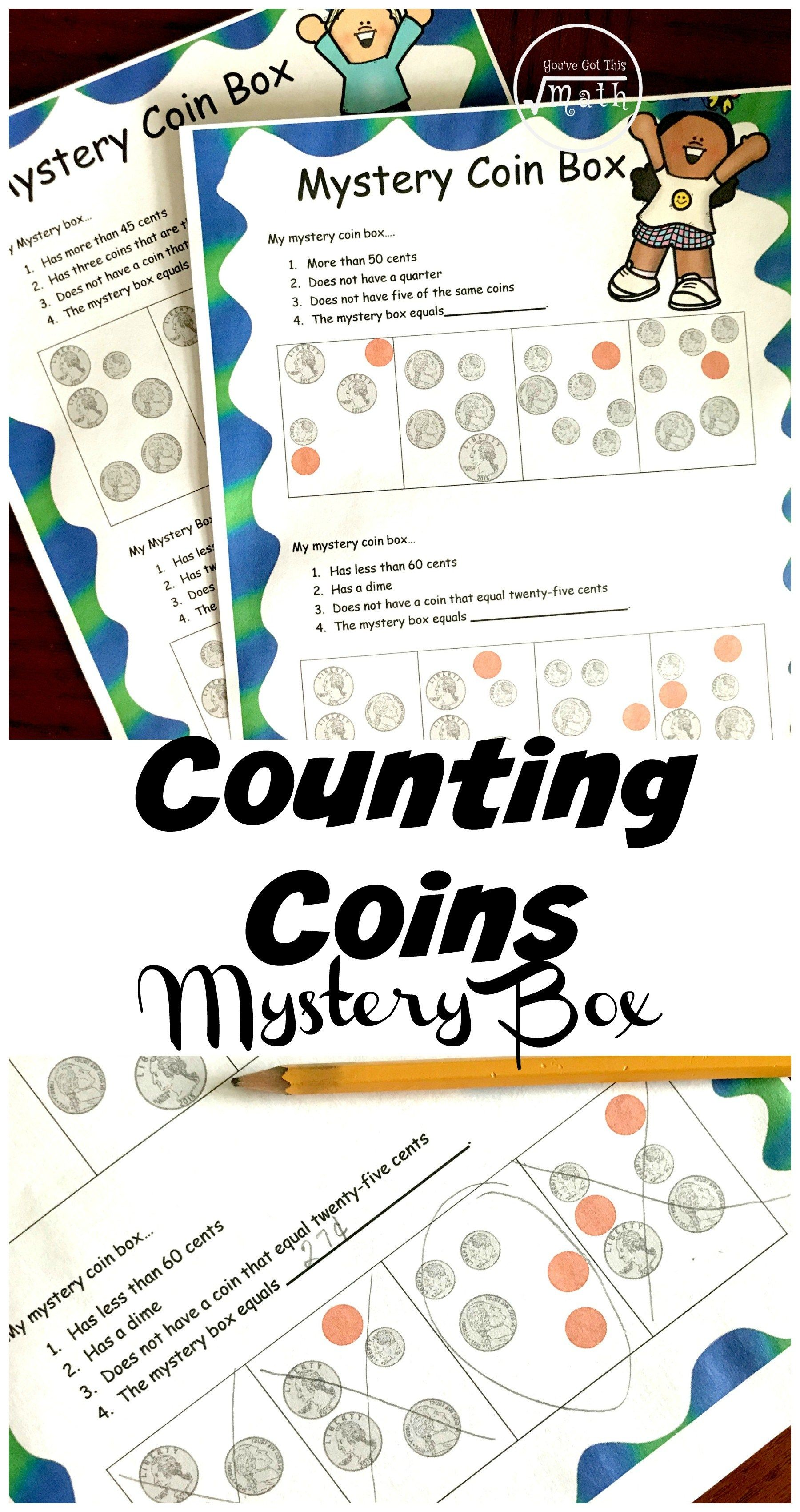 2 Free Counting Coin Worksheets With A Fun Twist Counting Coins Counting Coins Worksheet Money Activities [ 3400 x 1800 Pixel ]