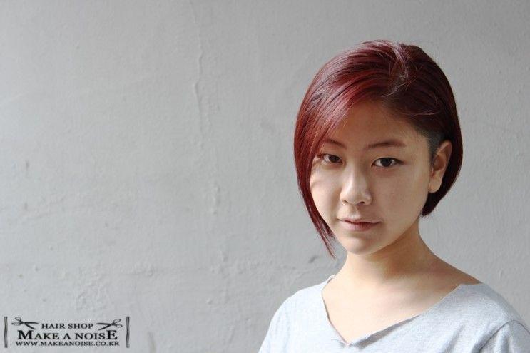 홍대헤어샵 메이크어노이즈 홍대제이의 여자단발머리스타일 과 여자반삭스타일 : 네이버 블로그