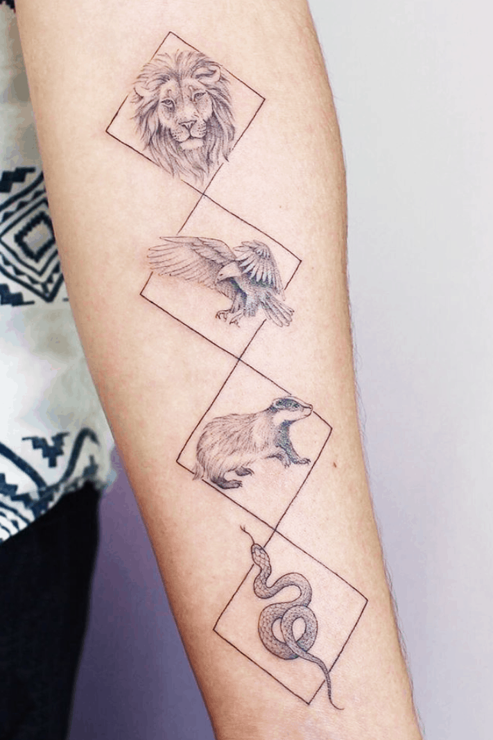 Gorgeous Harry Potter Inspired Tattoos More Than Thursdays In 2020 Harry Potter Tattoos Tattoos Geometric Tattoo