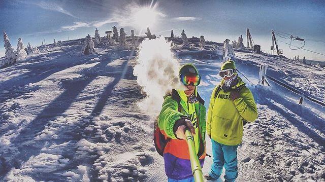Dneska fakt top den na snowboard 👐 #vapeeverywhere#jeseniky#praded